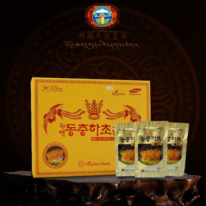 ĐTHT hộp gỗ vàng 60 gói cao cấp Hàn Quốc D043