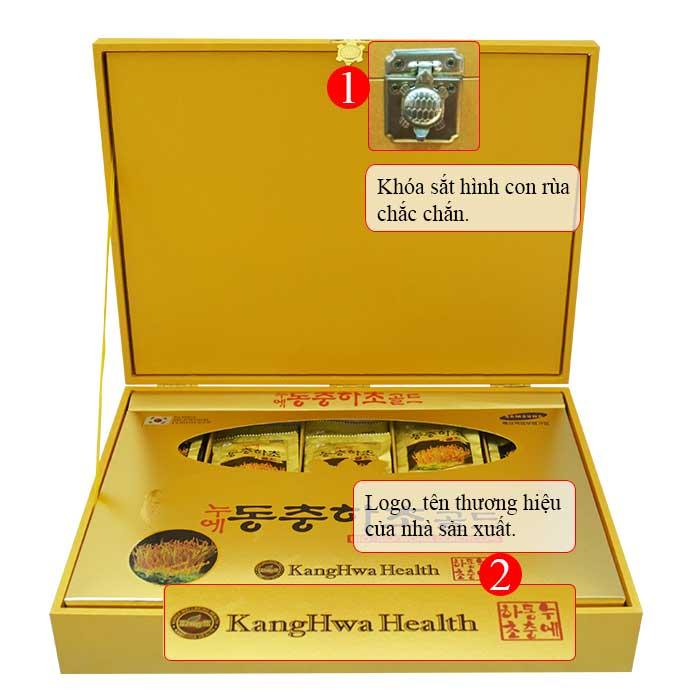 ĐTHT hộp gỗ vàng 60 gói cao cấp Hàn Quốc D043 2