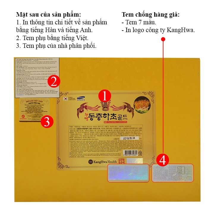 ĐTHT hộp gỗ vàng 60 gói cao cấp Hàn Quốc D043 3