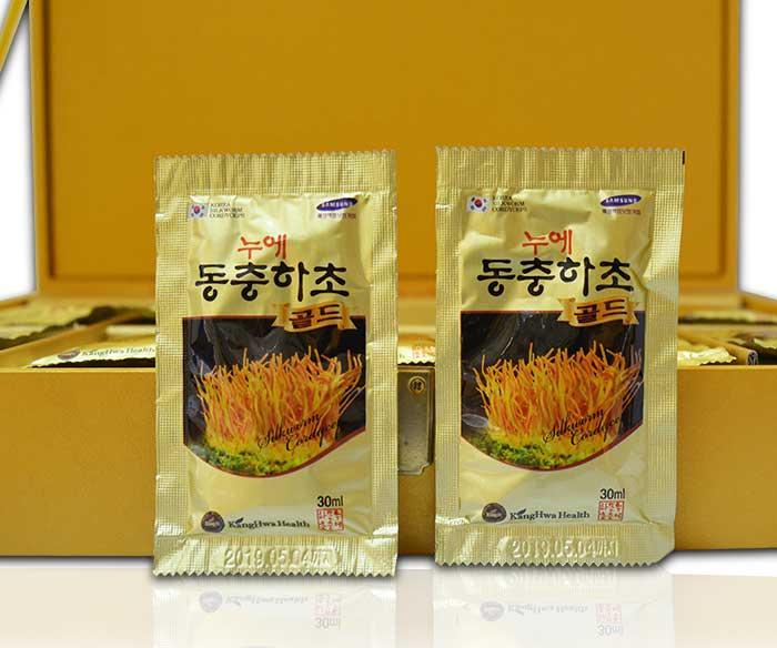 ĐTHT hộp gỗ vàng 60 gói cao cấp Hàn Quốc D043 4